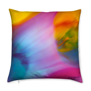World Limited Edition Silk Cushion - bedroom