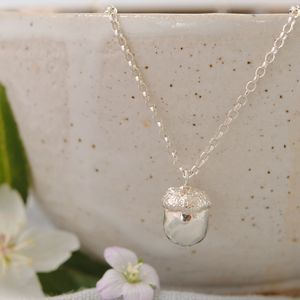 Sterling Silver Acorn Necklace - necklaces & pendants