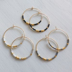 Large Fair Trade Evening Hoop Earrings