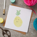 Happy Pineapple Greeting Card
