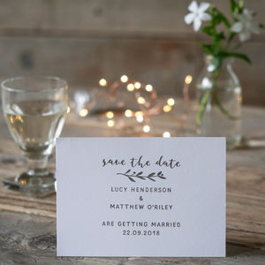 Save The Date Stamp With Natural Sprig