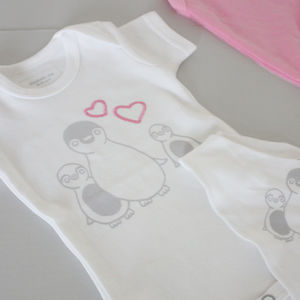 Penny Penguin Babygrow And Bib Gift Set - brand new partners