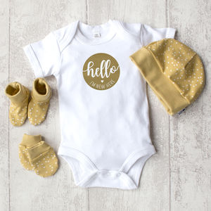 'I'm, New Here!' Baby Gift Set - clothing