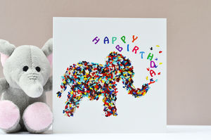Happy Birthday Elephant Butterfly Card