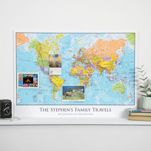 Personalised Map Of The World - kitchen