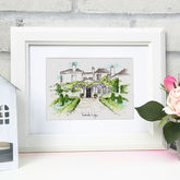 Personalised Wedding Venue Illustration - prints & art