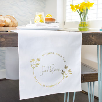 'Dinner With The…' Personalised Table Runner