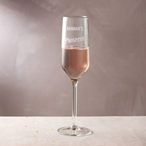 Personalised Prosecco Glass - home