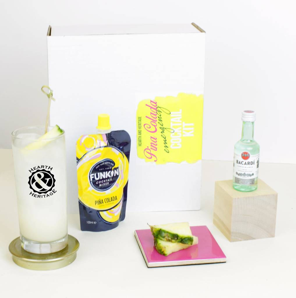 Emergency Pina Colada Kit With Glass Keepsake