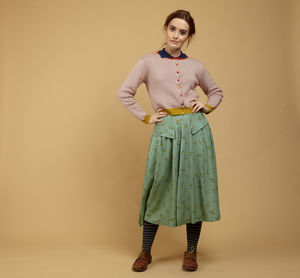 Veronica Green Swallows Skirt