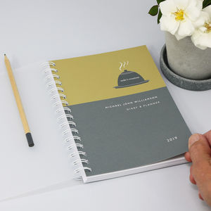 Personalised 2019 Diary For Foodie Lovers
