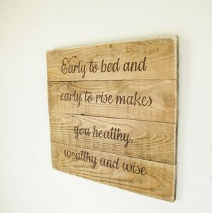 Custom Vintage Wooden Board Signs