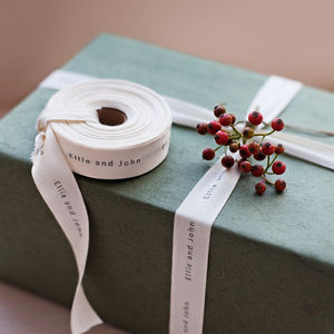 Christmas Ribbon - wedding stationery