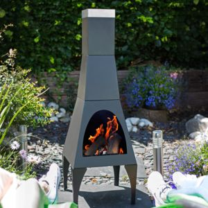 Contemporary Modern Chiminea - fire pits & outdoor heating