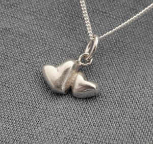Double Heart Necklace And Chain