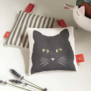 Black Cat Lavender Bag - bedroom