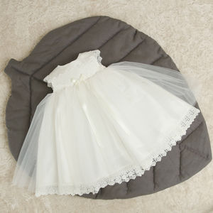 Evelyn Christening Dress - flower girl dresses