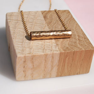 Gold Barrel Necklace