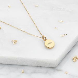 Extra Small Gold Or Silver Personalised Disc Necklace - necklaces & pendants