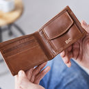 Leather Wallet With Coin Section