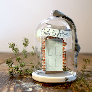 Welcome Home Blue Door Cloche - gifts for couples