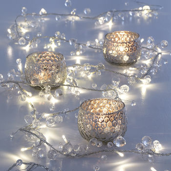 Clear Crystal Ball Battery Fairy Lights