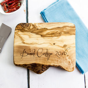 Personalised Live Edge Cheese Board