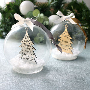Metallic Family Christmas Tree Bauble