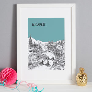 Personalised Budapest Print - maps & locations