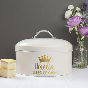 Personalised Queen Cake Tin - cake & baking tins