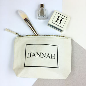 'Personalised Monogram Name' Make Up Bag