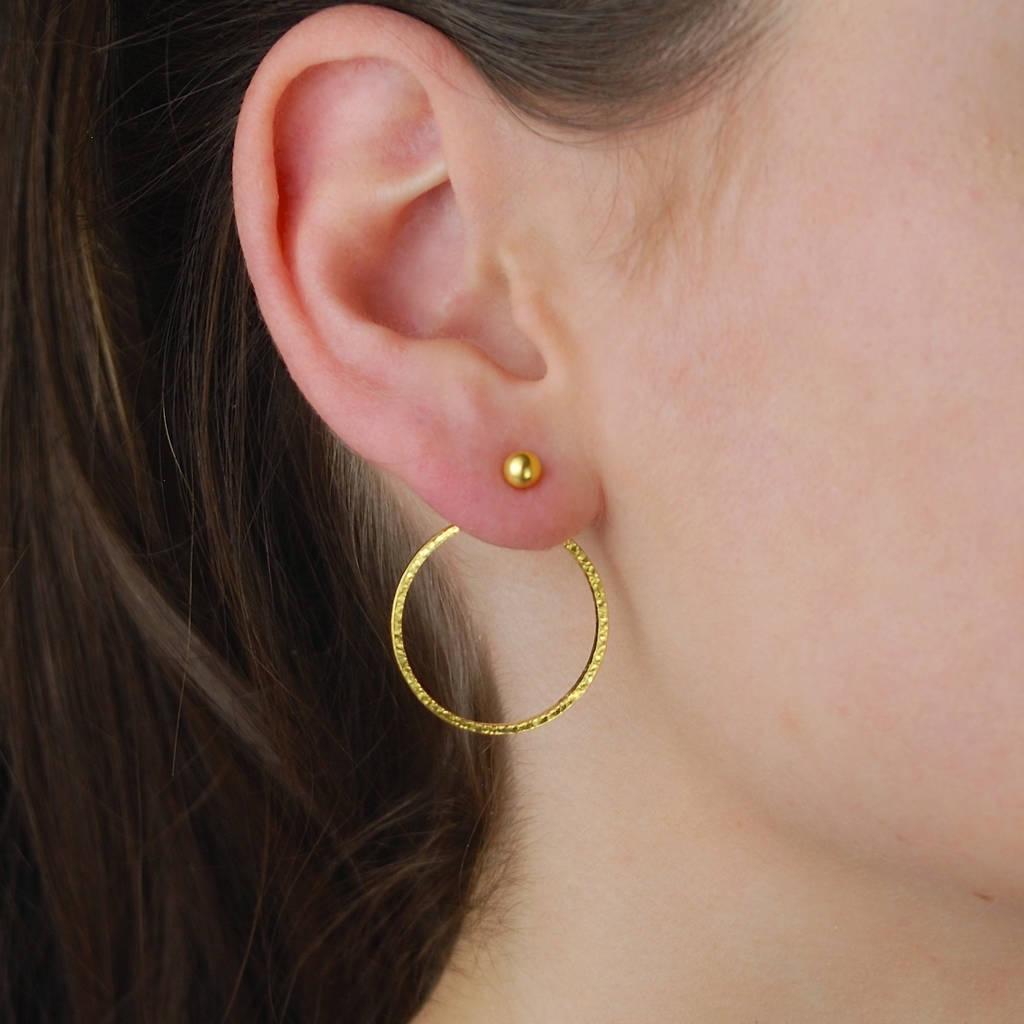 Indian Gold Two Way Hoop Earrings