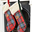Luxury Tartan Christmas Stocking