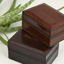 Leather Travel Cufflink Box Free Personalisation