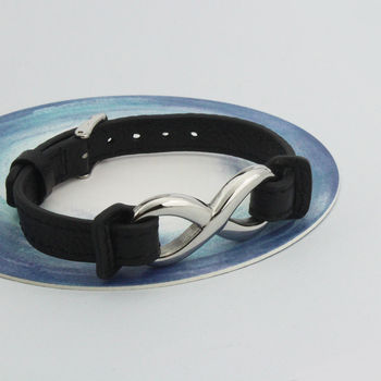 Mens Leather Infinity Cuff