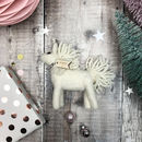 white unicorn christmas tree decoration