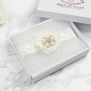 Bridal Garter 'Simply Lace' Ivory Garter - women's fashion