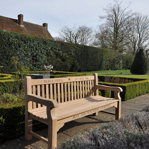 Personalised Parkland Bench - 50th anniversary: gold