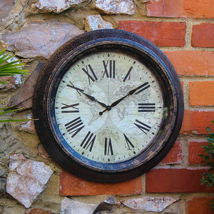 Outdoor Vintage Wall Clock - art & decorations