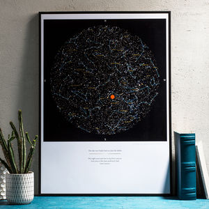 Personalised Map Of The Stars, Medium Size Print - best valentine's gifts