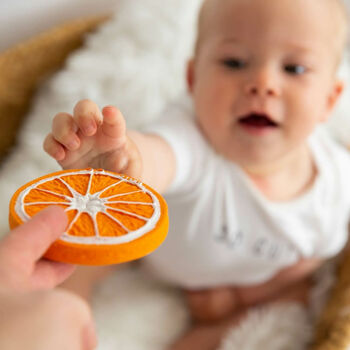 Natural Rubber Orange Teething Toy