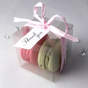 100 X Personalised French Macaroon Wedding Favours