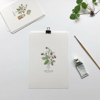 'Wild Strawberry' Botanical Giclée Art Print