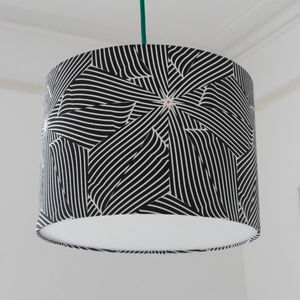 Large Black And White Bold Lampshade For The Home - lighting