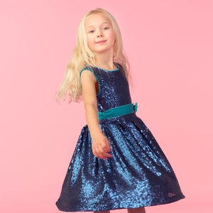 Beau Navy Sequin Party Dress - clothing