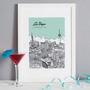 Personalised Las Vegas Print - travel-inspired wedding gifts