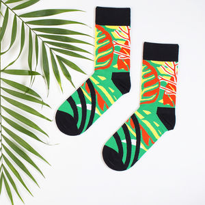 Tropical Print Socks By Daniel Triendl