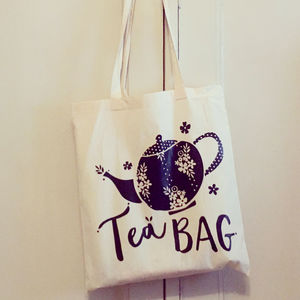 Tea Lovers Tote Bag - summer sale