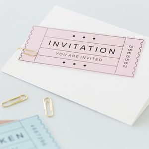 'You Are Invited' Ticket Invitation - wedding stationery