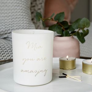Personalised You Are Amazing Scented Candle